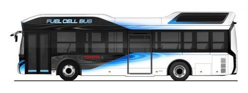 Автобус Toyota наводородных топливных элементах