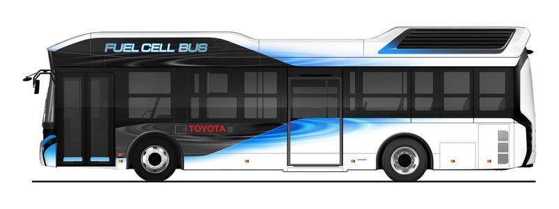 Автобус <i>Toyota</i> наводородных топливных элементах.