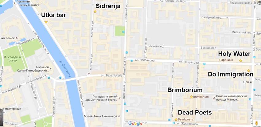 """Карта """"Ночи науки"""" вСанкт-Петербурге"""