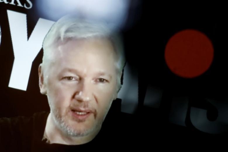 Джулиан Ассанж, основатель иглавный редактор <i>WikiLeaks</i>.