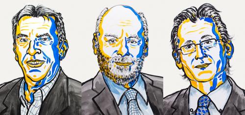 Нобелевские лауреаты 2016 года по химии Жан-Пьер Саваж, Джеймс Фрейзер Стоддарт иБернард Феринга.