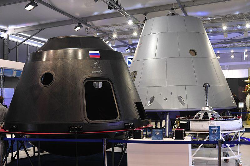Макеты корабля «Федерация» намеждународном салоне МАКС 2013.