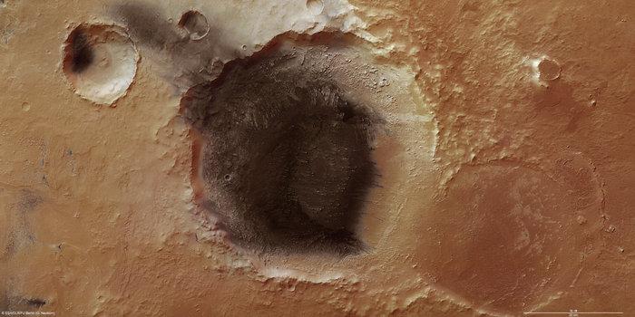 Вулканические отложения наПлато Меридиана.