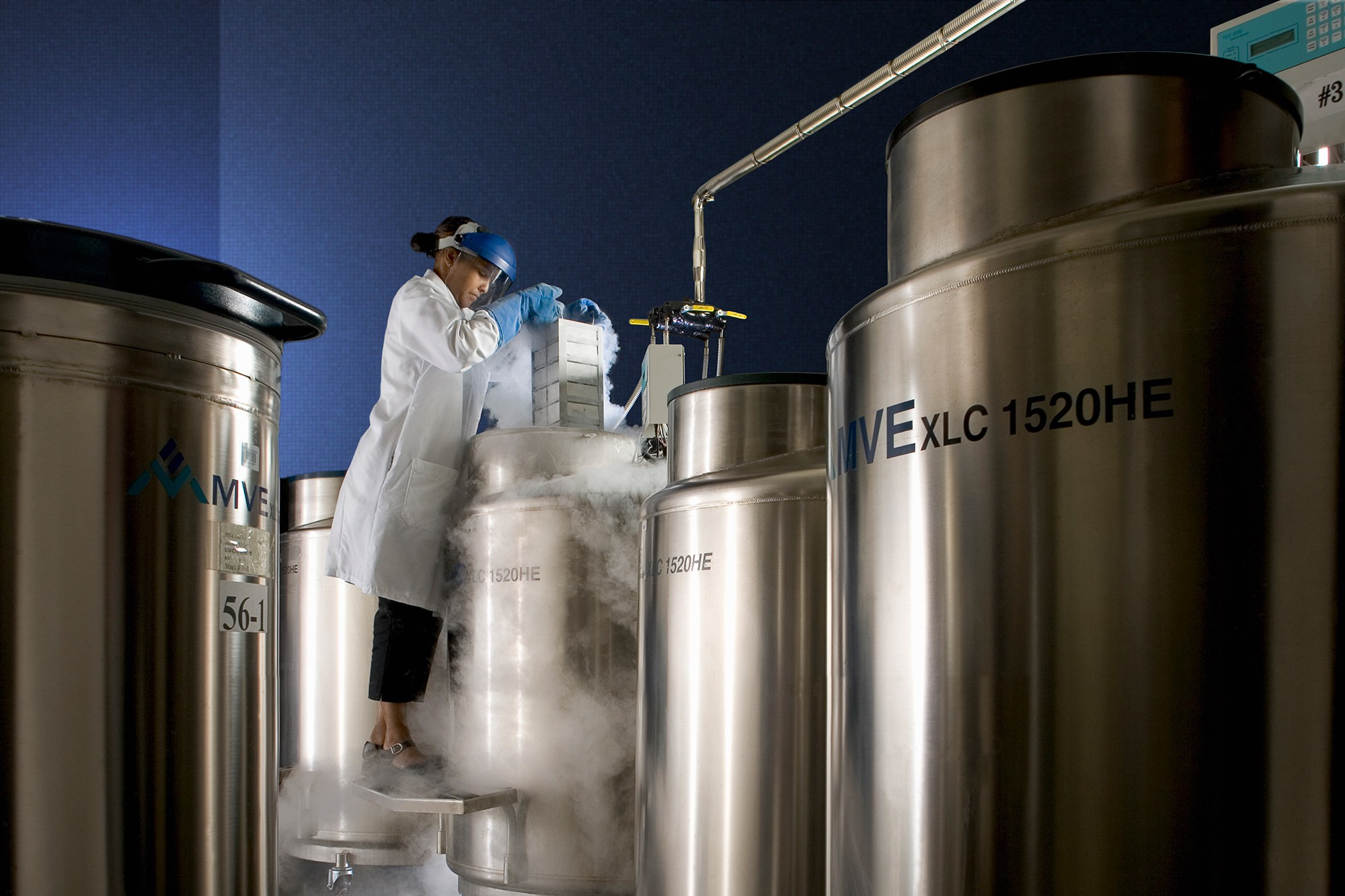 Контейнеры для криоконсервации позволяют сохранять как отдельные клетки иорганы, так итело целиком.