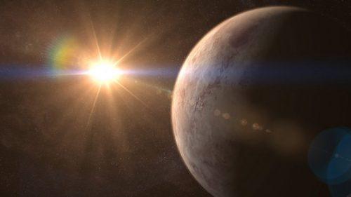 Суперземля GJ 536 b извезда GJ 536, рисунок.