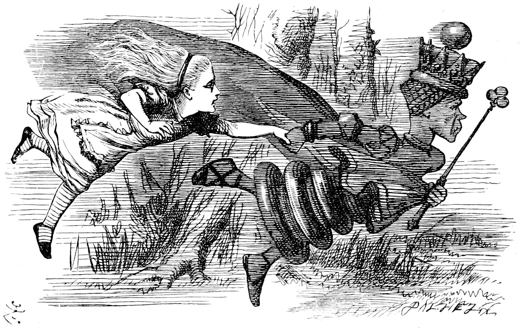 Алиса иКрасная Королева. Ну, то есть Чёрная королева.