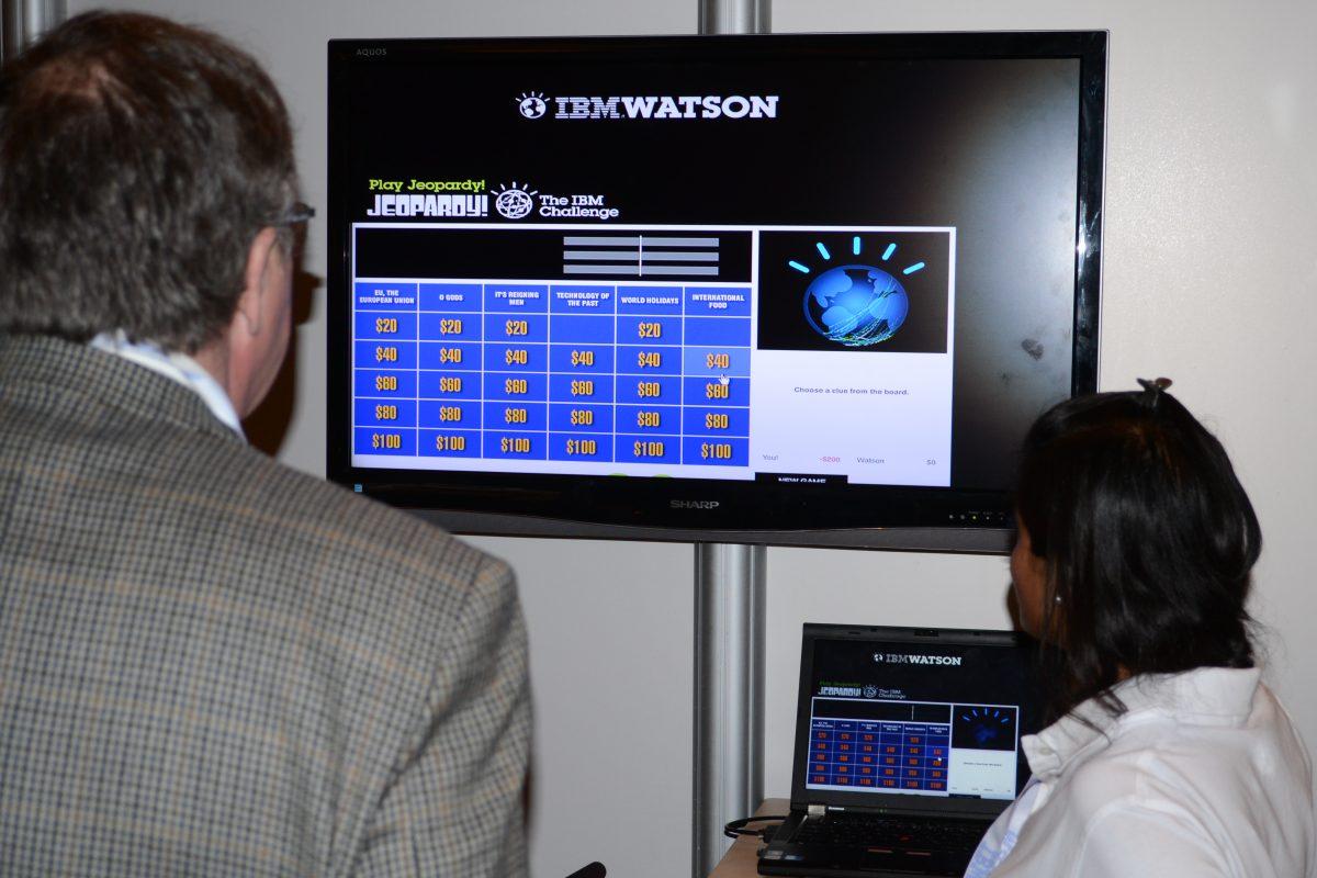 Демонстрационная консоль суперкомпьютера <i>IBM Watson</i>.