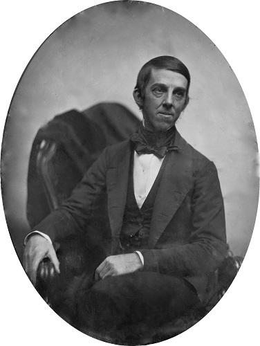 Дагеротип Оливера Уэнделла Холмса. 1853 год.