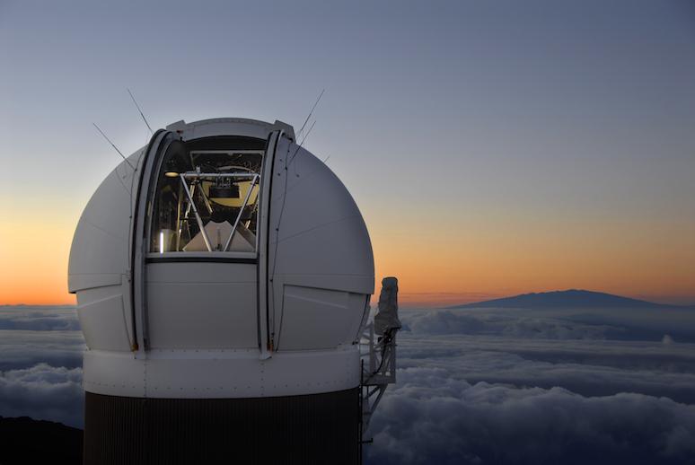 Купол обсерватории навершине вулкана Халеакала. Здесь располагается телескоп Pan-STARRS-1 (PS1).
