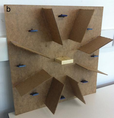 Аналог радиального восьмирукавного лабиринта для пчёл.