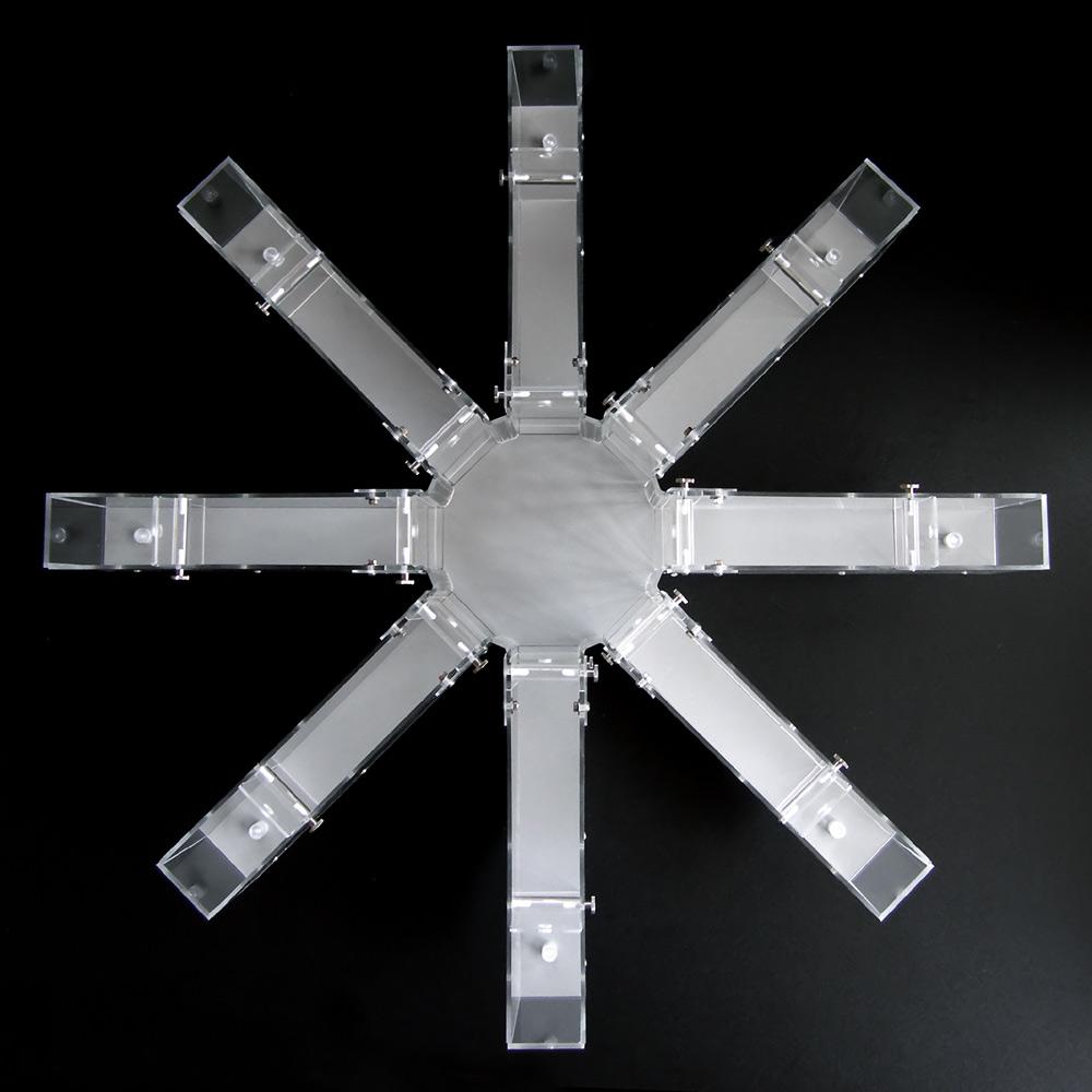 Радиальный восьмирукавный лабиринт— установка для экспериментов над грызунами.