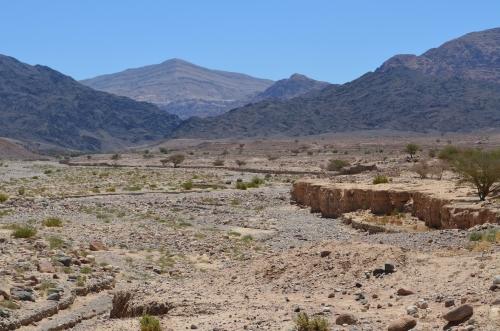 Рудное поле Файнан. Здесь, вустье пересохшей реки, исследователи обнаружили высокие концентрации меди.