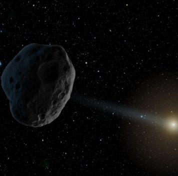Комета вновогоднем небе