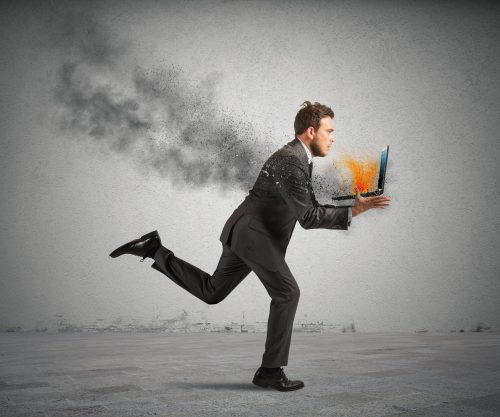 Картинка про рабочий стресс