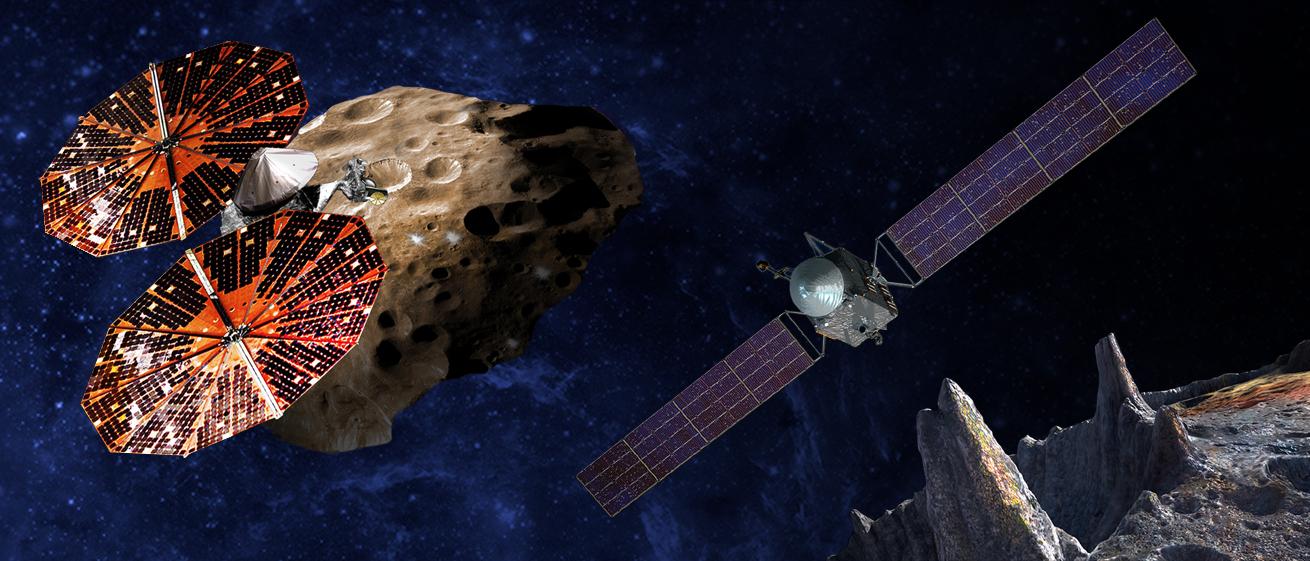 "Автоматическая межпланетная станция Люси глазами художника. Источник: <a href=""https://www.nasa.gov/press-release/nasa-selects-two-missions-to-explore-the-early-solar-system"">НАСА</a>"