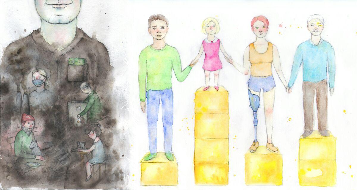Экономика блокчейнов: плохая или хорошая? Рисунок Эльзы Коркиайнен.
