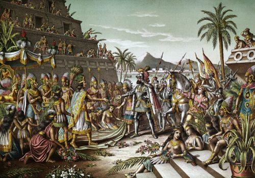 Сразу после завоевания Мексики испанцами страну охватила череда эпидемий, уничтоживших большую часть коренного населения.