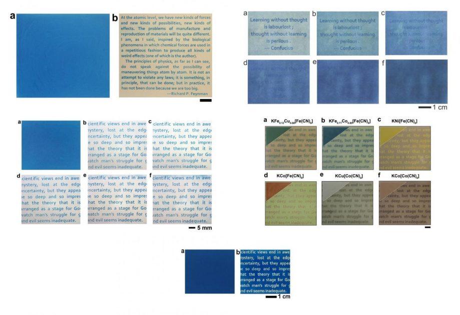 Учёным удалось добиться разных оттенков бумаги ишрифта.