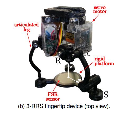 Устройство для симуляции тактильных ощущений 3-RRS.