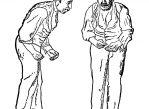 Пациент с болезнью Паркинсона. Рисунок из руководства 1886 года Уильяма Говерса.