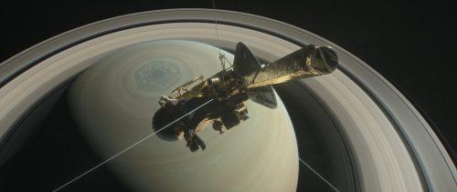 «Кассини» приближается к Сатурну, рисунок