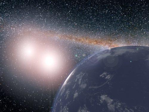 Гипотетическая планета всистеме Кеплер-35, рисунок.
