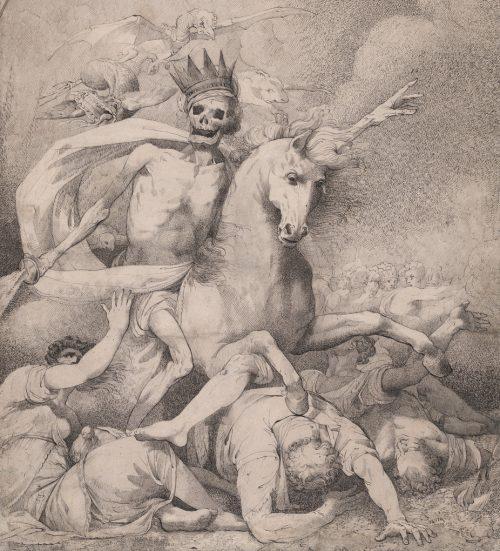 Джон Гамильтон Мортимер. Смерть наконе бледном. 1775г.