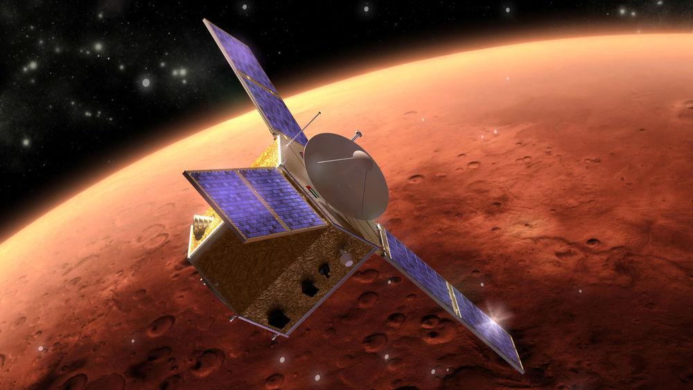 Орбитальный аппарат «Hope»— первый шаг Арабских Эмиратов кМарсу. Старт запланирован на2021 год.