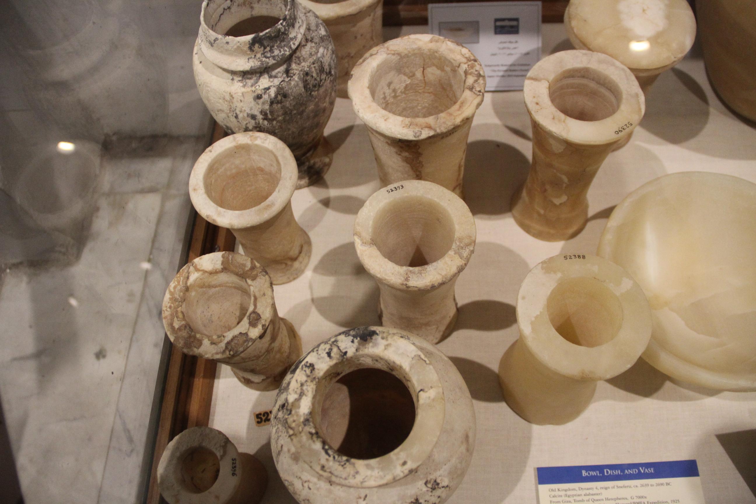 Каменные вазы. Каирский музей