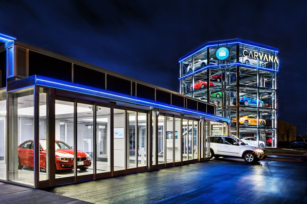 Вендинговый автомат Carvana для продажи автомобилей.