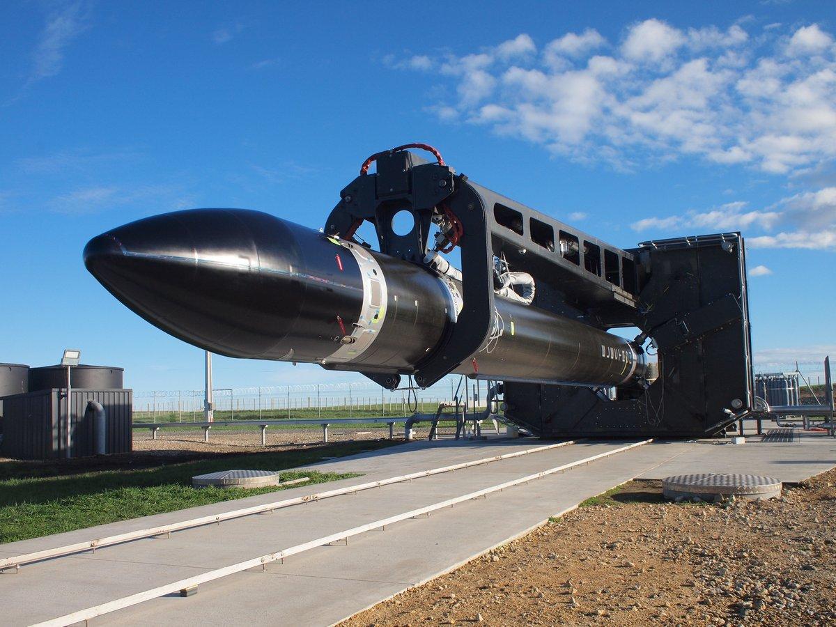 Ракета-носитель <i>Electron</i>, разработанная частной аэрокосмической компанией <i>Rocket Lab</i>.