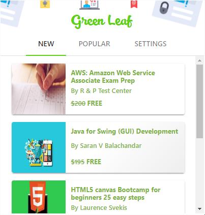 Интерфейс расширения Green Leaf.