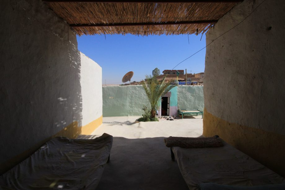 Нубийский дом снаружи.