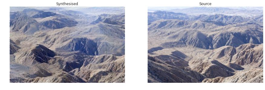 Рис. 7. Синтезированная текстура— горы.