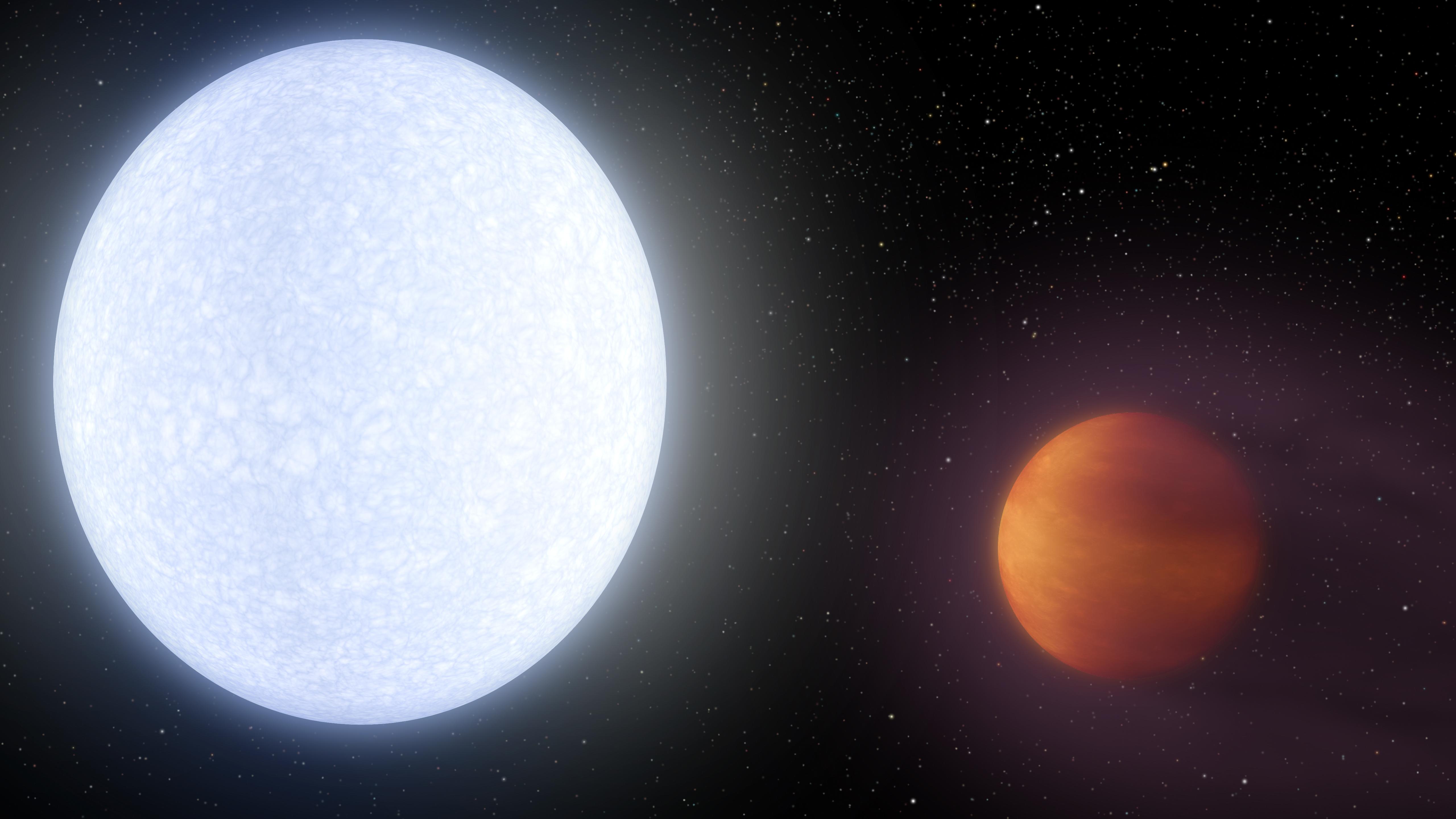 Звезда KELT-9 ипланета KELT-9b.