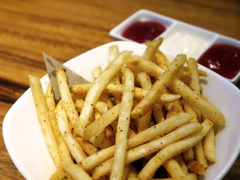 Картофель фри с белками в духовке с фото