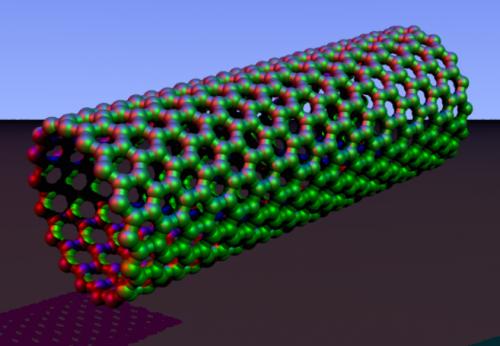 Карбоновая нанотрубка— один из вариантов молекулы фуллерена.