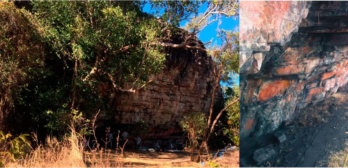 Скальный навес Мадьедбебе, место раскопок 2015г.