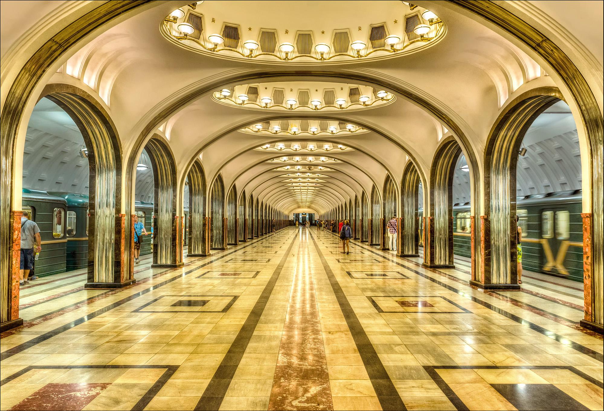 Московское метро— это красиво.