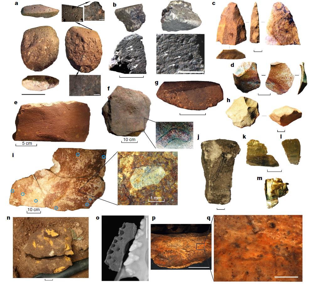 Некоторые артефакты, найденные напамятнике Мадьедбебе.