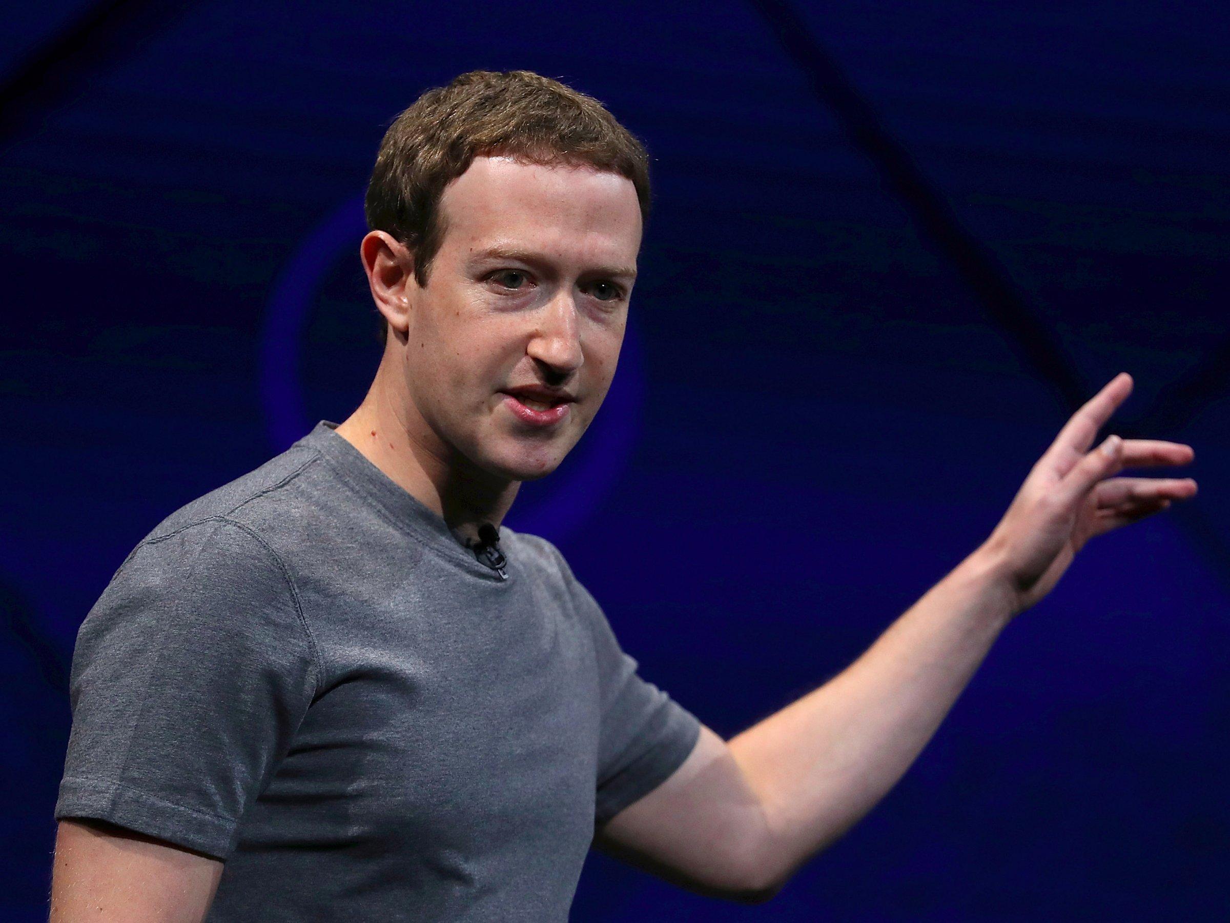 Генеральный директор исоздатель Facebook Марк Цукерберг.