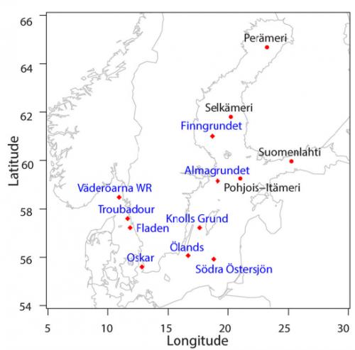Наземные станции, измеряющие высоту волн вБалтийском море. Кудрявцева & Соомере, Estonian Journal of Earth Sciences, 2016, 65, 3, 161—175, Creative Commons Attribution 4.0 License, http://creativecommons.org/licenses/by/4.0