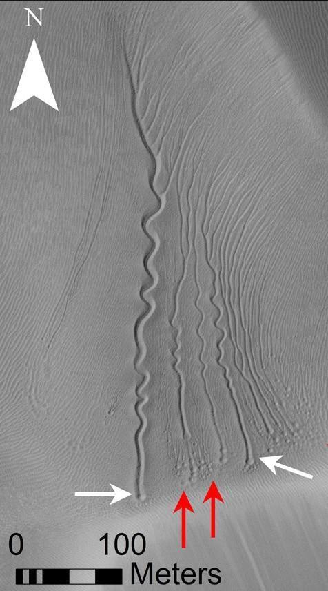 Линейные овраги наМарсе