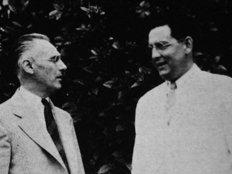 Бахман (слева) иКарпентер (справа), 1938г. Из архивов Карибского центра изучения приматов