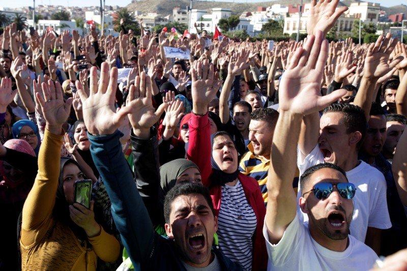Демонстрация вМарокко.