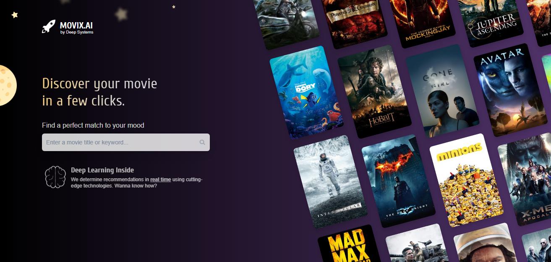 Movix.ai ненужна многолетняя история просмотров, достаточно пары любимых фильмов.