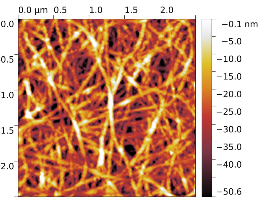 Поверхность плёнки из углеродных нанотрубок