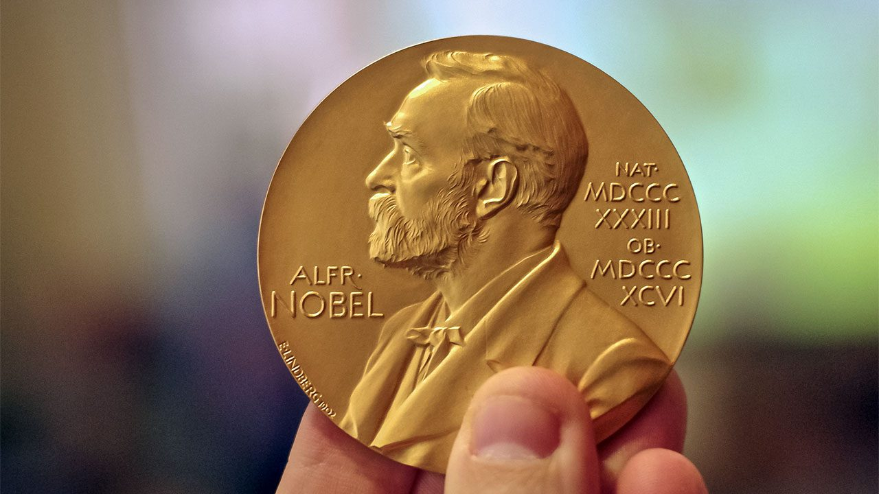 Нобелевская медаль.