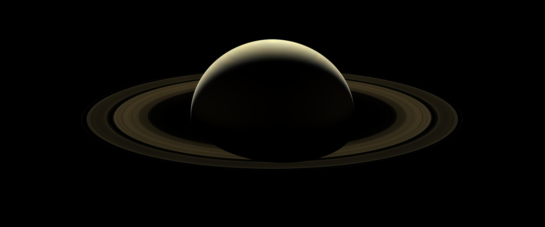 Одна из последних фотографий Сатурна, сделанная станцией Кассини