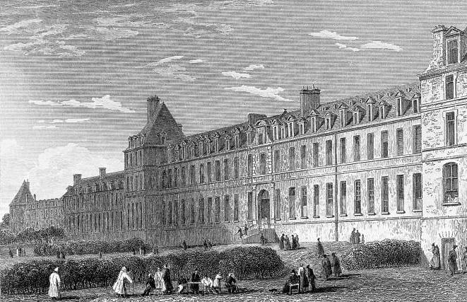 Больница Бисетр, около1830 года.